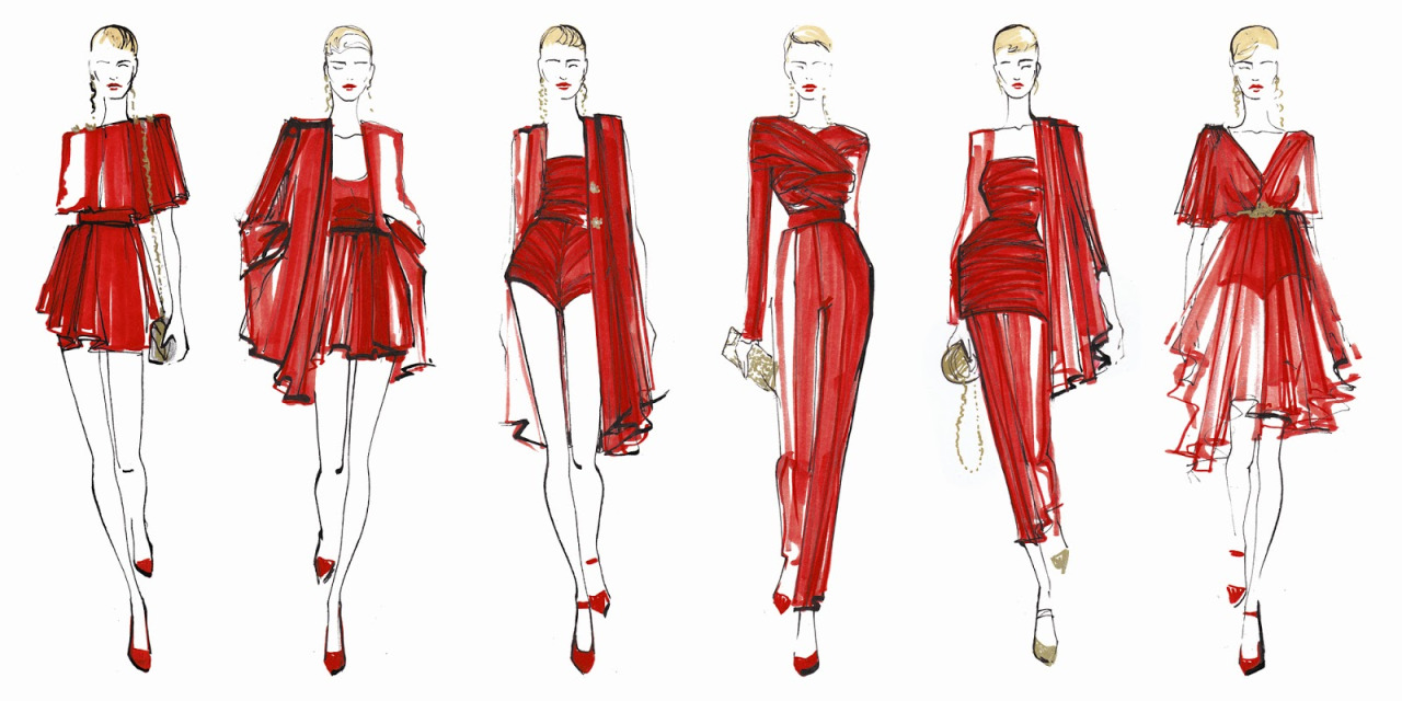 fashion drawing � four views when drawing a model magic